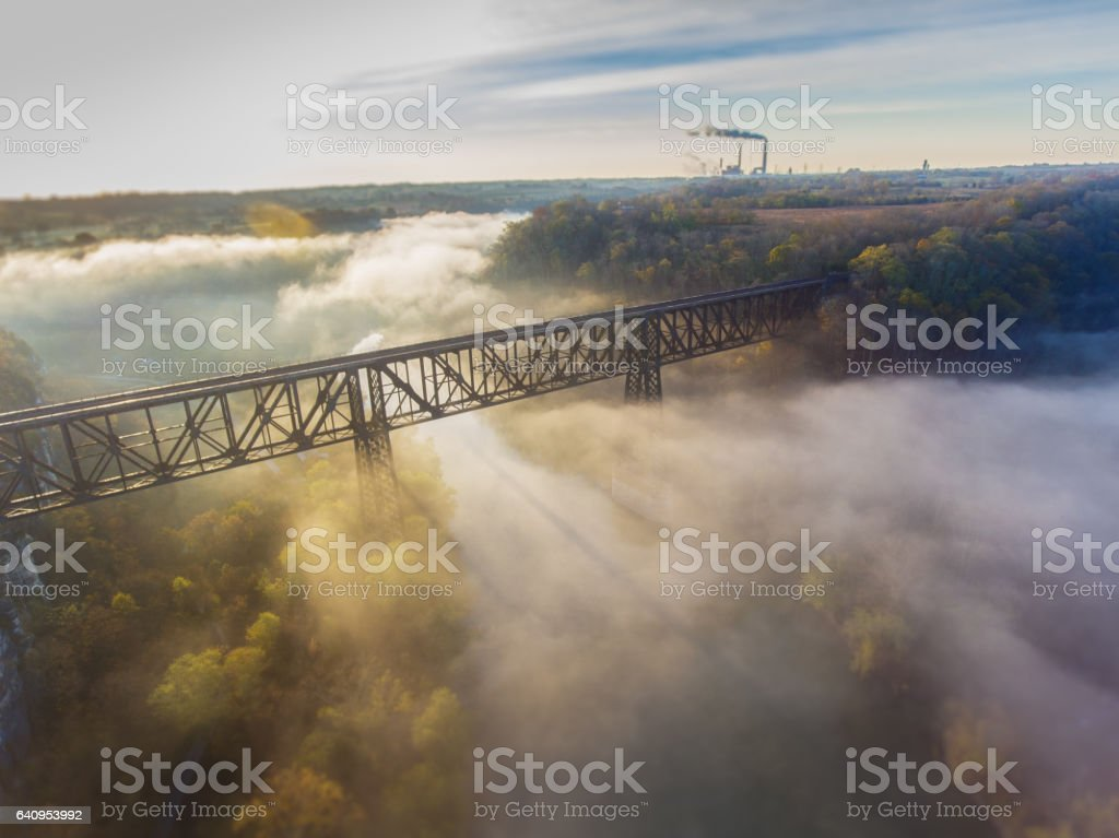 Appalachian Sunrise stock photo