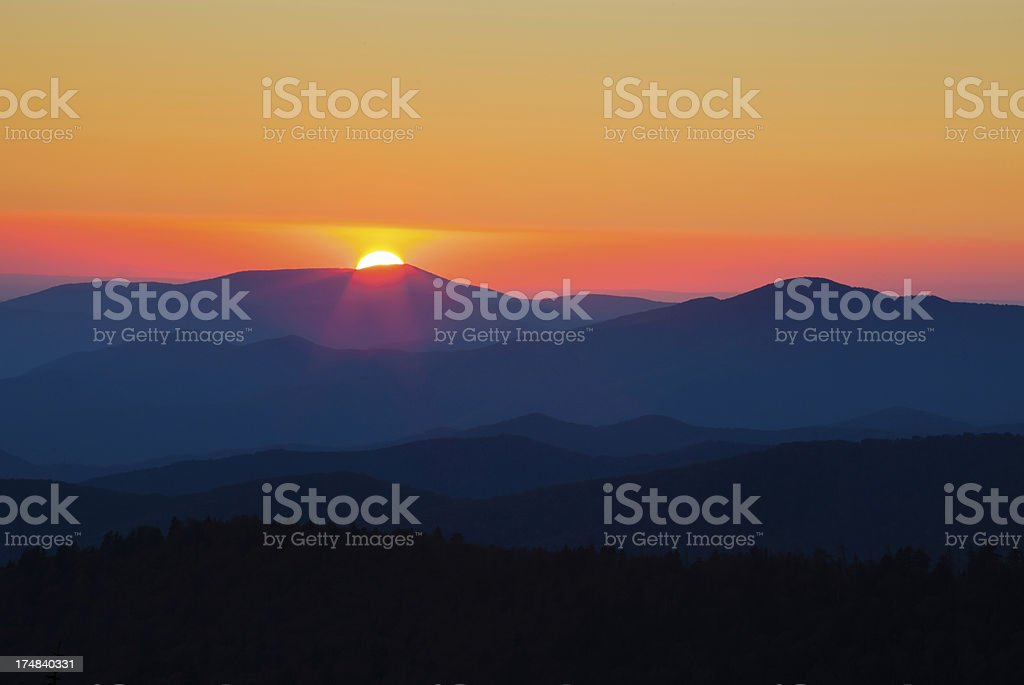 Appalachian Sunset royalty-free stock photo