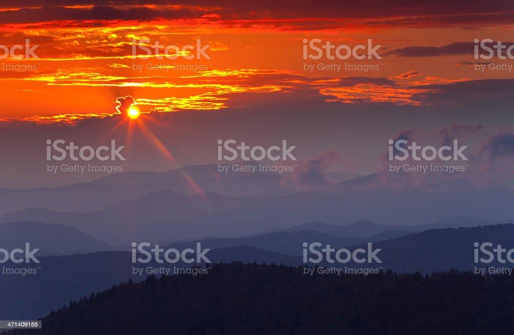 Appalachian Sunset royalty-free stock photo