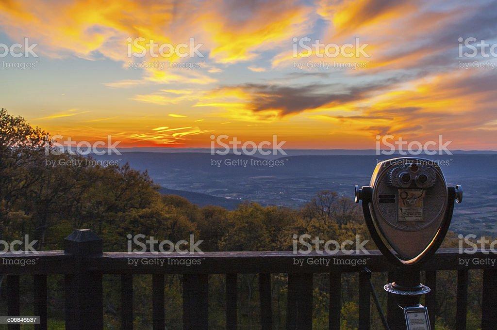 Appalachian Sunset stock photo