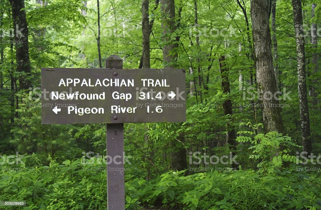 Appalachian Trail Distances stock photo