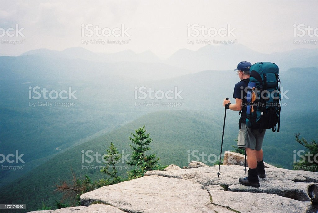 Appalachian Trail Hiker (The Journey) stock photo