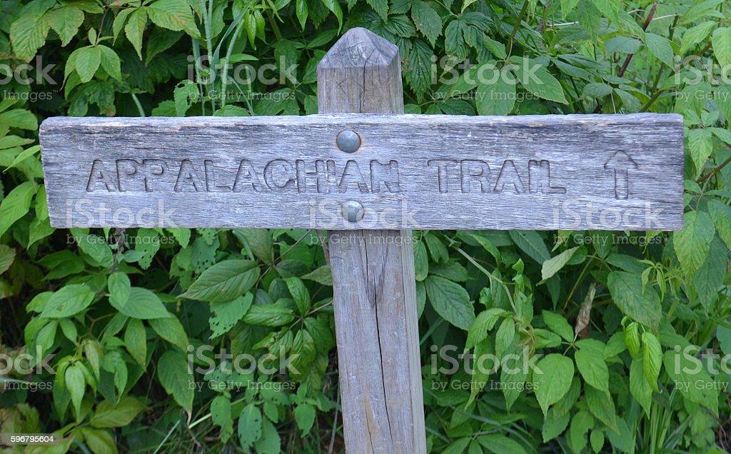 Appalachian Trail Marker stock photo