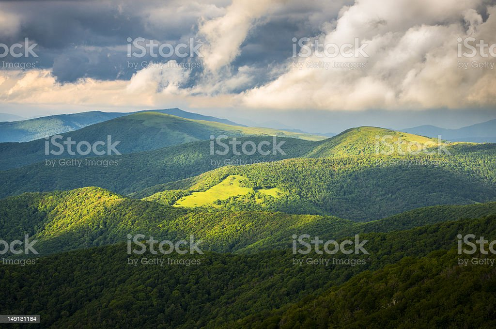 Appalachian Trail Roan Mountain State Park Blue Ridge Mountains Tennessee stock photo