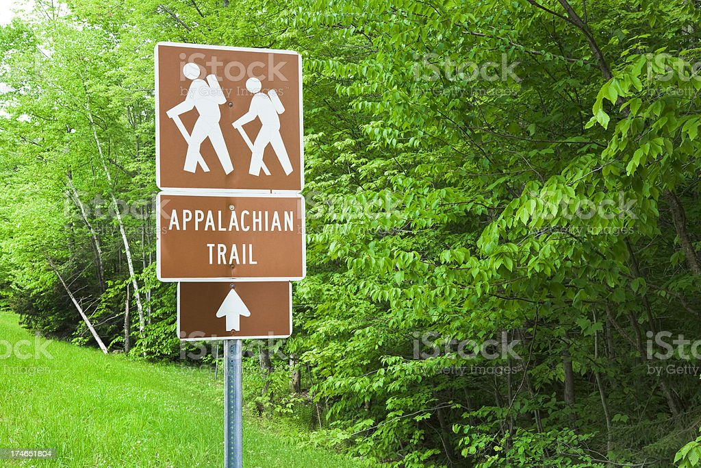 Appalachian Trail sign royalty-free stock photo
