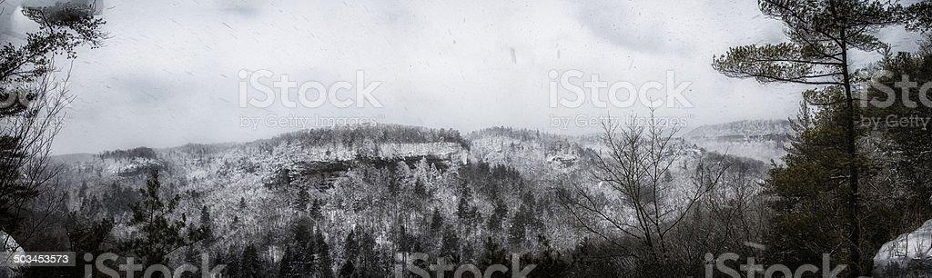 Appalachian Winter stock photo