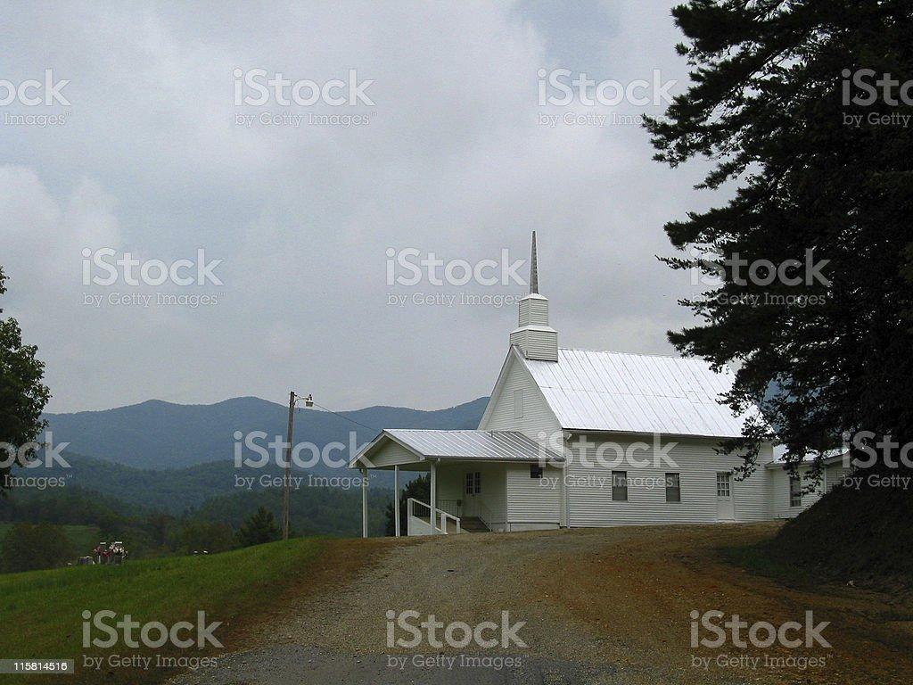 Appalacian Church stock photo
