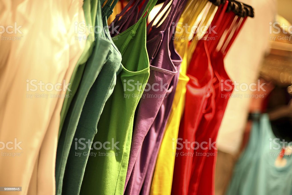 Apparels In Colors royalty-free stock photo