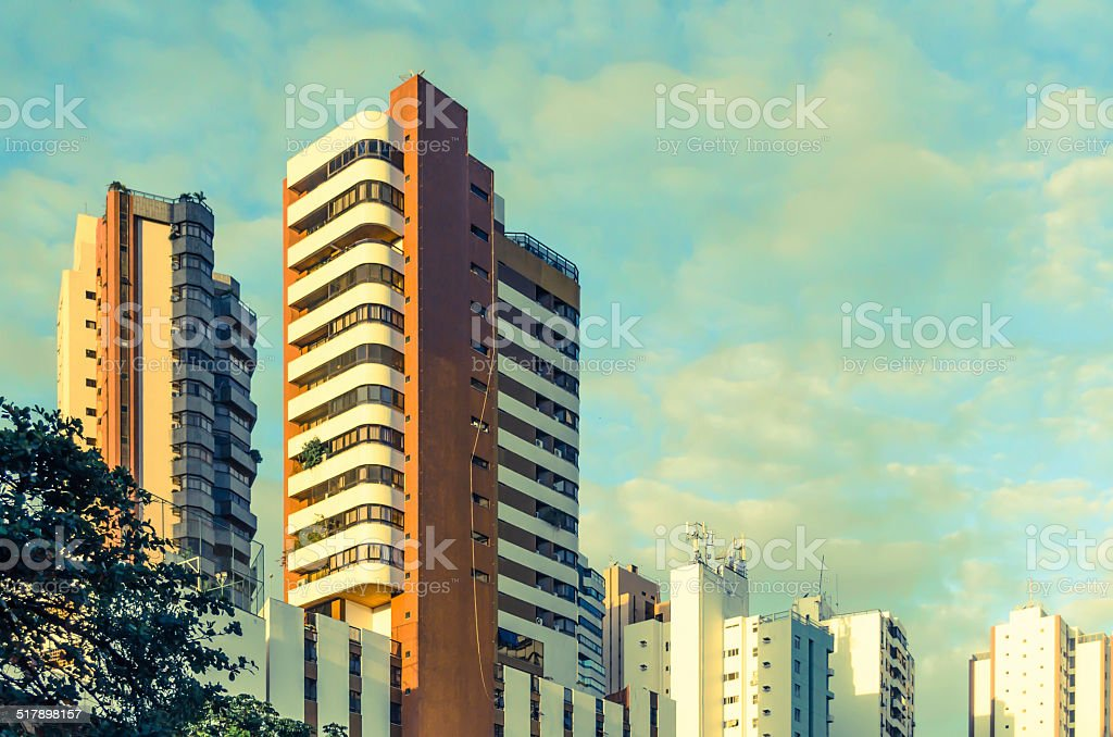 appartment building, stock photo