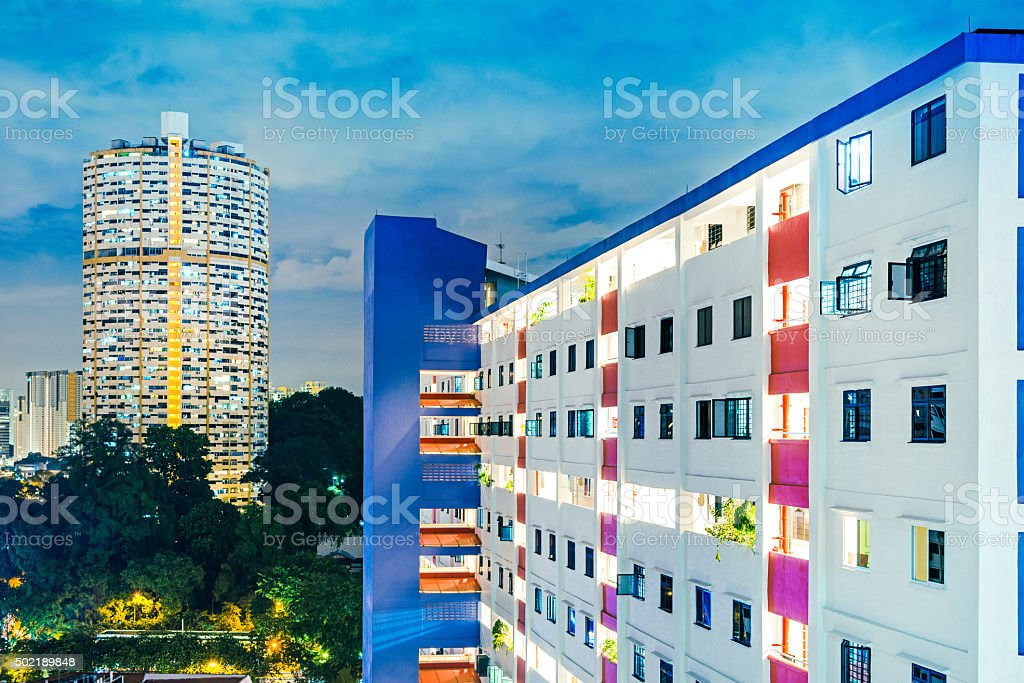 appartment buildings in Singapore stock photo