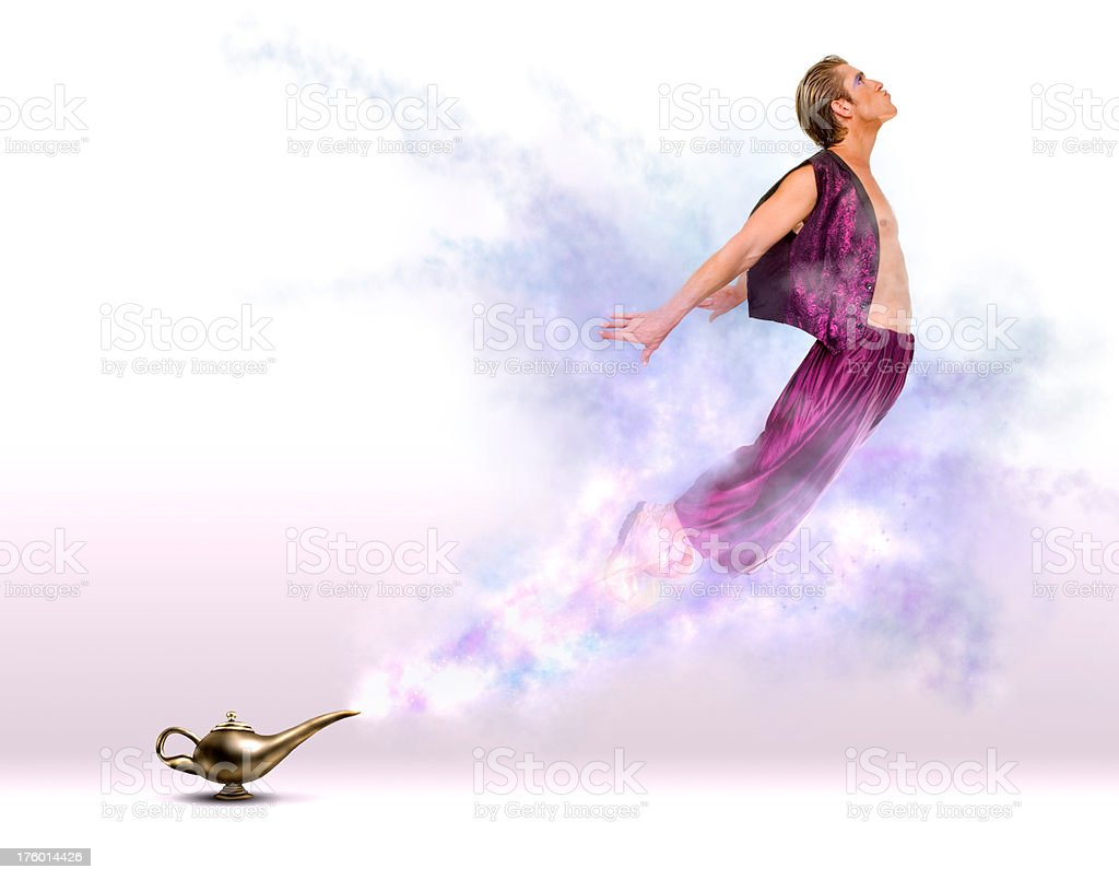 Appearing Genie stock photo