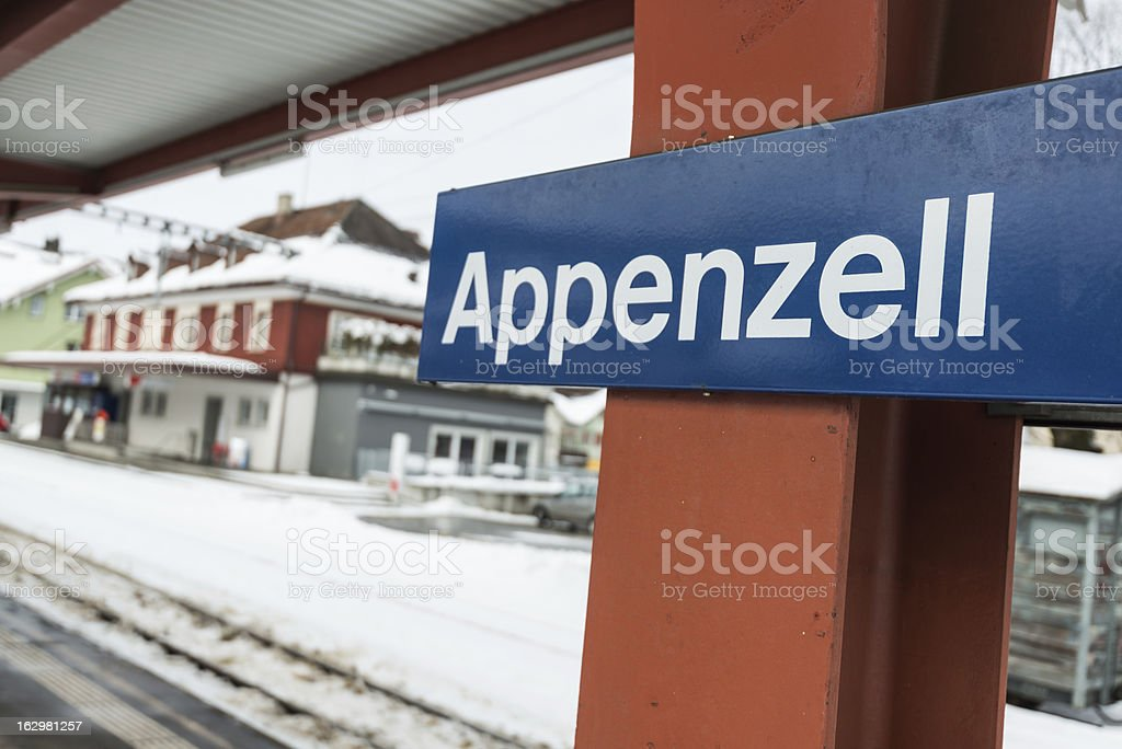 Appenzell railway station in Switzerland royalty-free stock photo