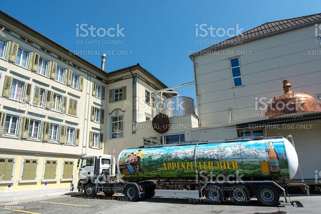 Appenzeller Beer Factory stock photo