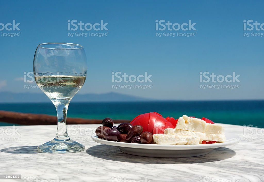 Appetizer and sallad stock photo