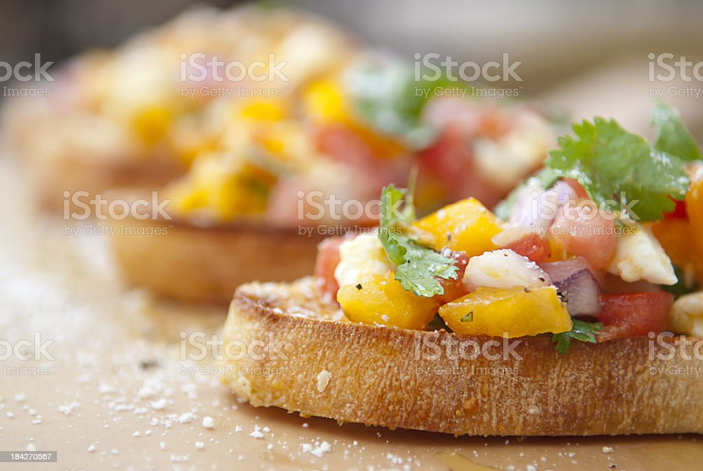 Appetizer Bruschetta stock photo