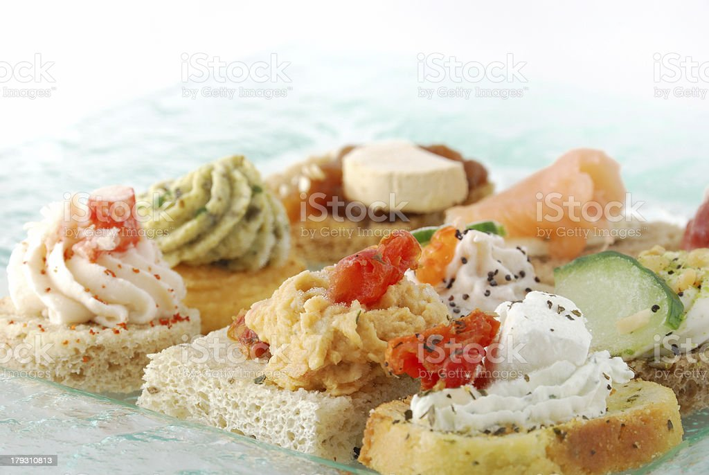 Appetizer canape royalty-free stock photo