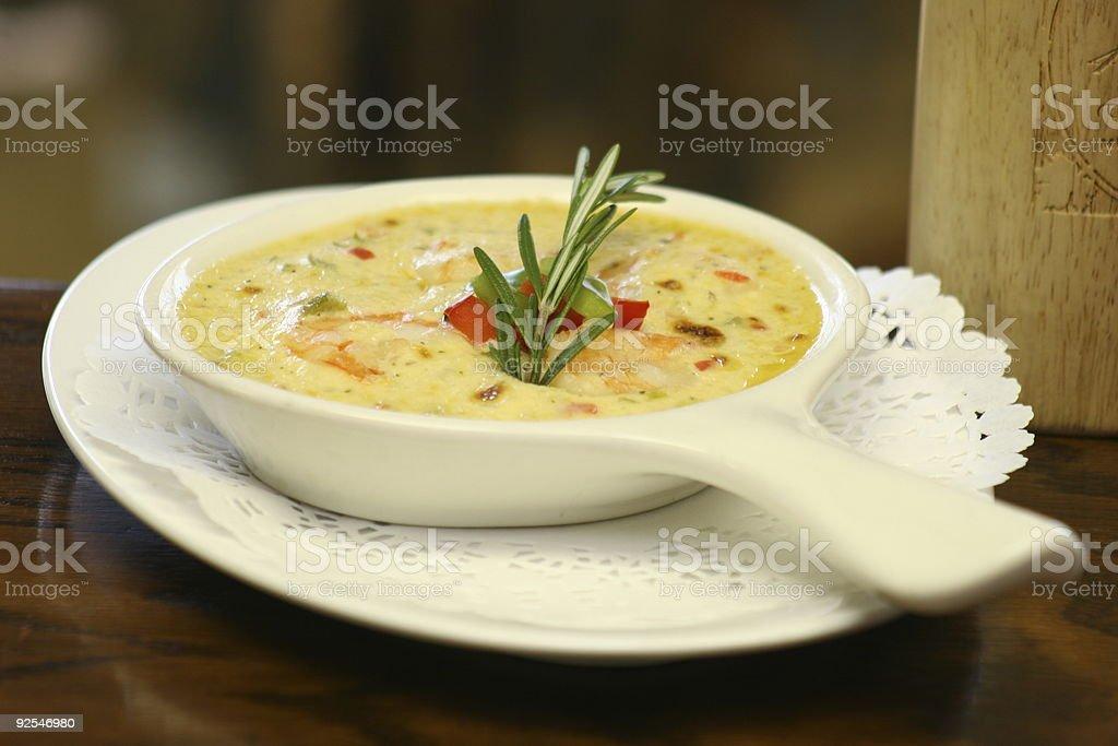 Appetizer - Hot Shrimp royalty-free stock photo