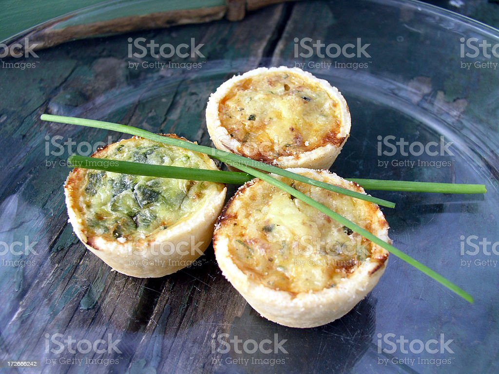 Appetizer or Breakfast - Quiche stock photo