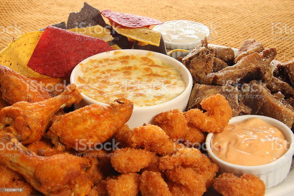 appetizer platter stock photo
