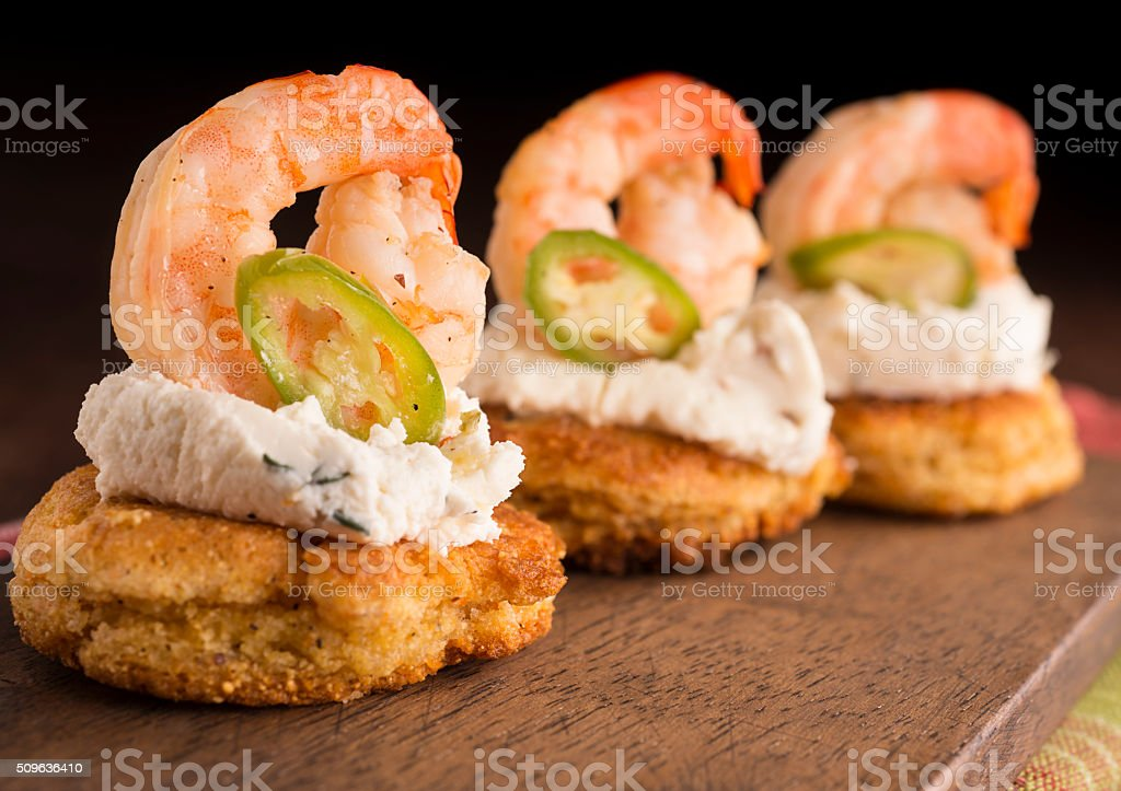 Appetizer Shrimp stock photo