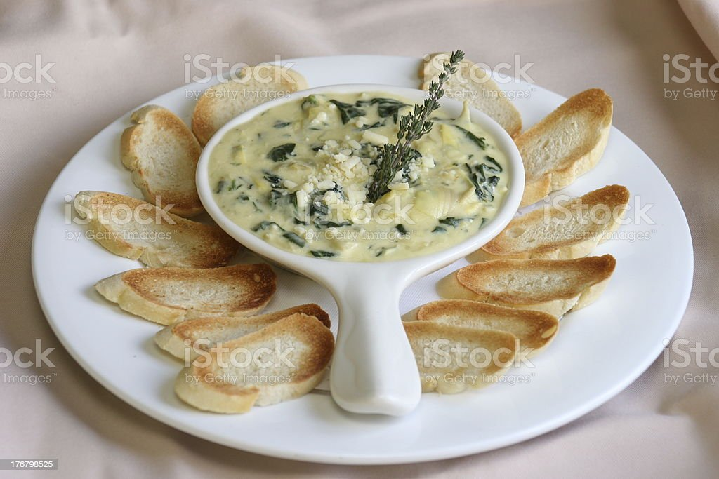 Appetizer - Spinach Dip royalty-free stock photo