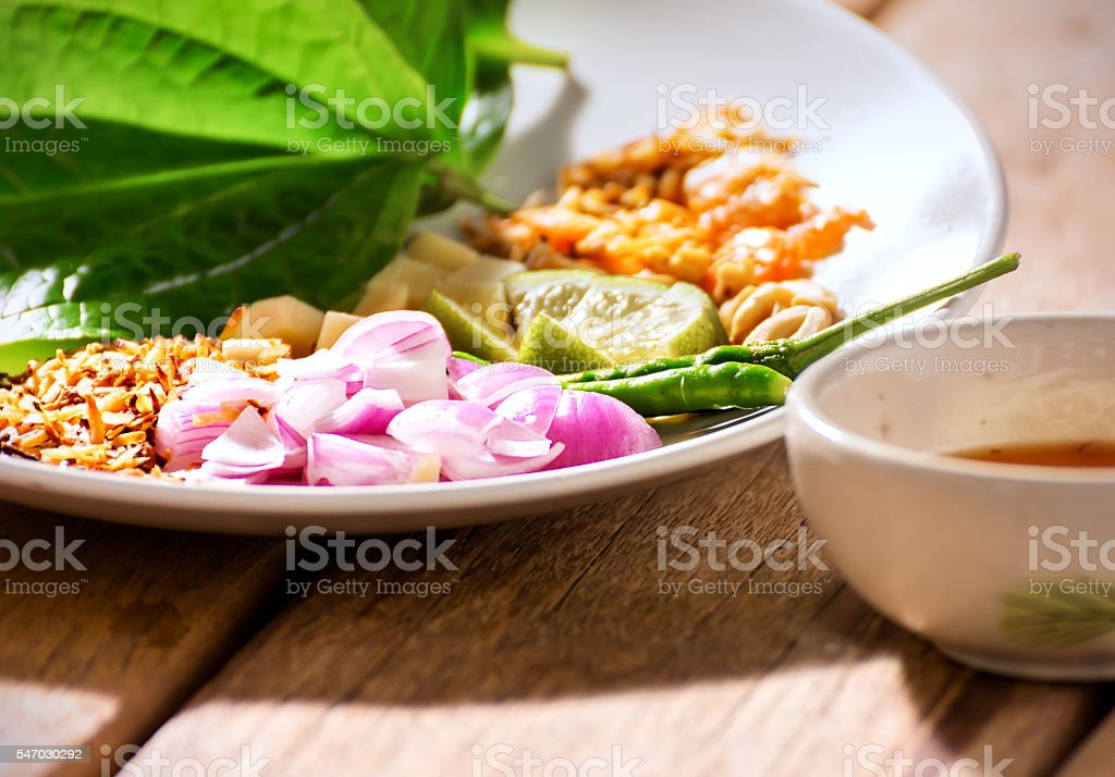 appetizer thaifood. stock photo