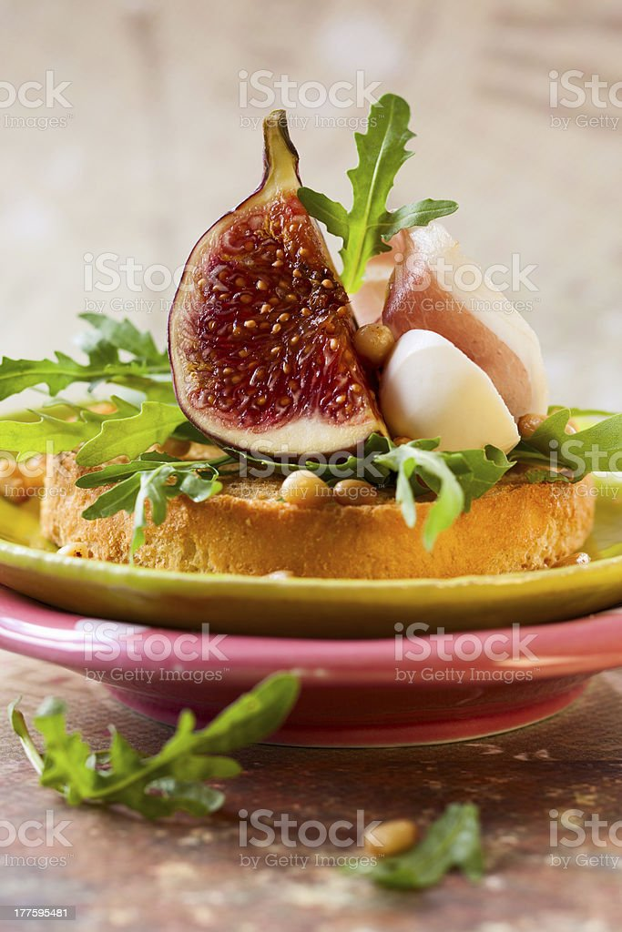 appetizer with fig royalty-free stock photo