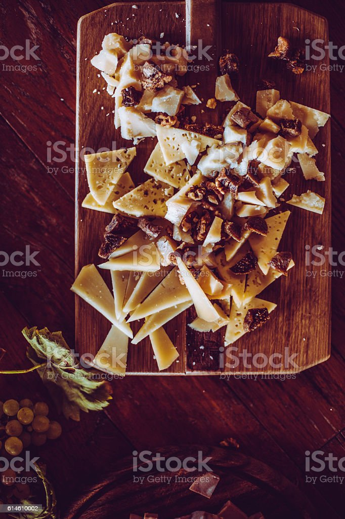 Appetizers Arrangement on the Table stock photo