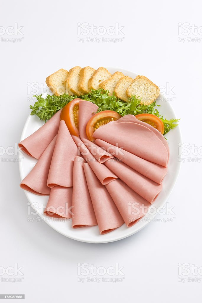 appetizers in white royalty-free stock photo