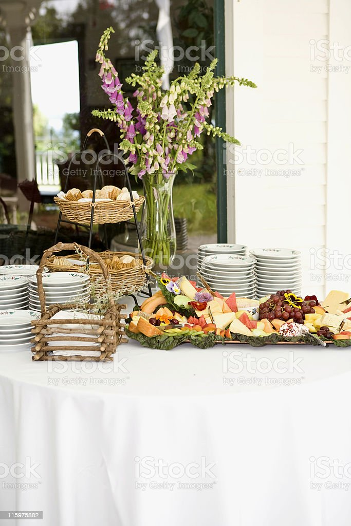 Appetizers Outdoors royalty-free stock photo
