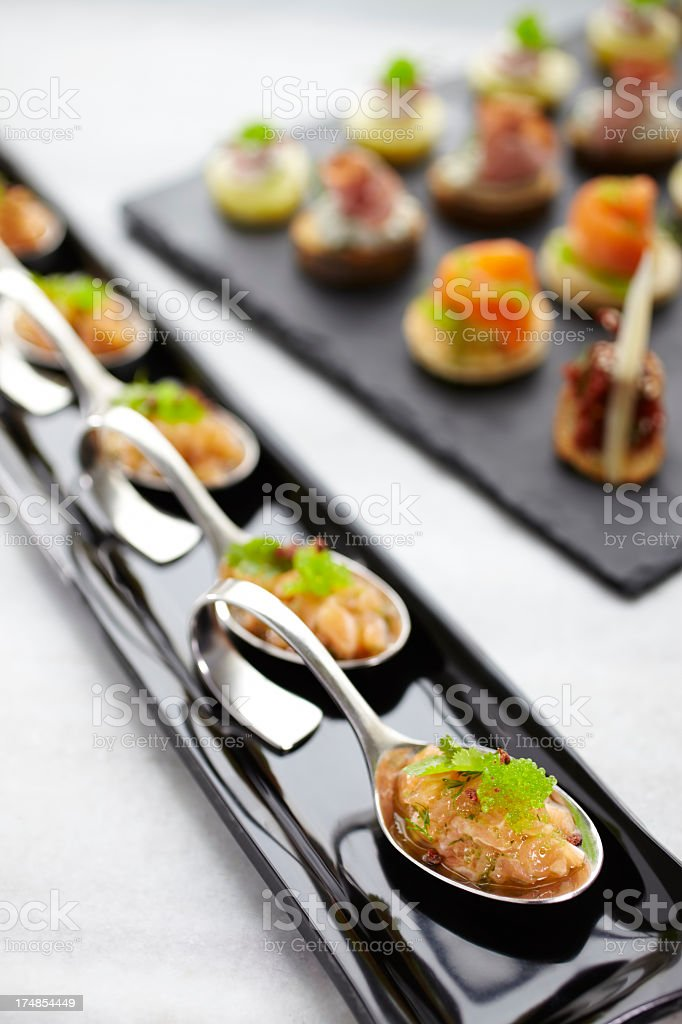Appetizers ready for party royalty-free stock photo