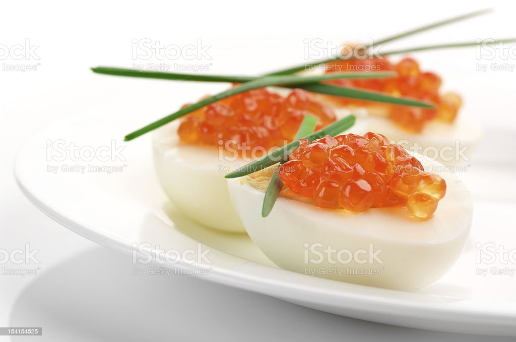 Appetizers with caviar royalty-free stock photo