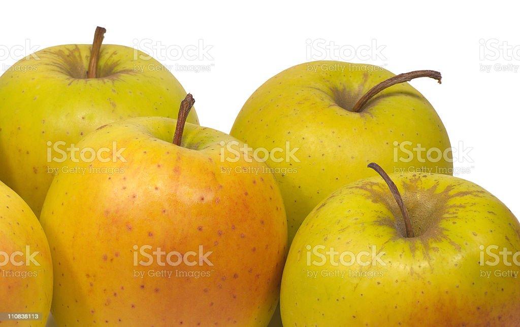 Appetizing fresh apples isolated on white closeup stock photo