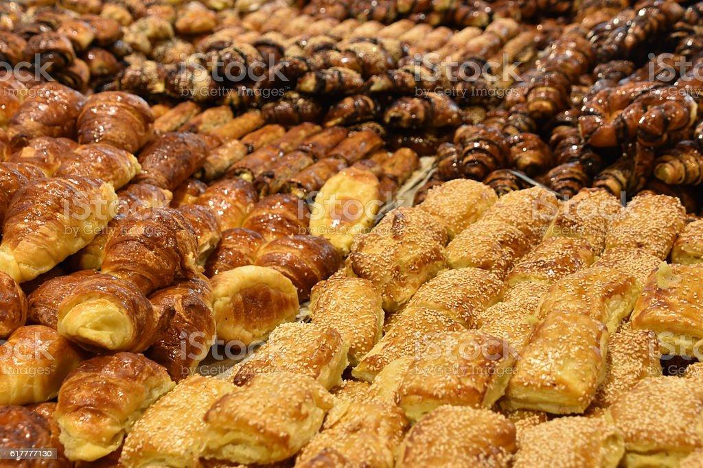 appetizing Fresh baked goods stock photo