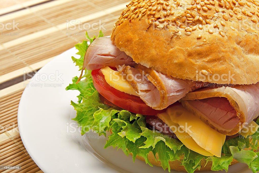 Appetizing sandwich stock photo
