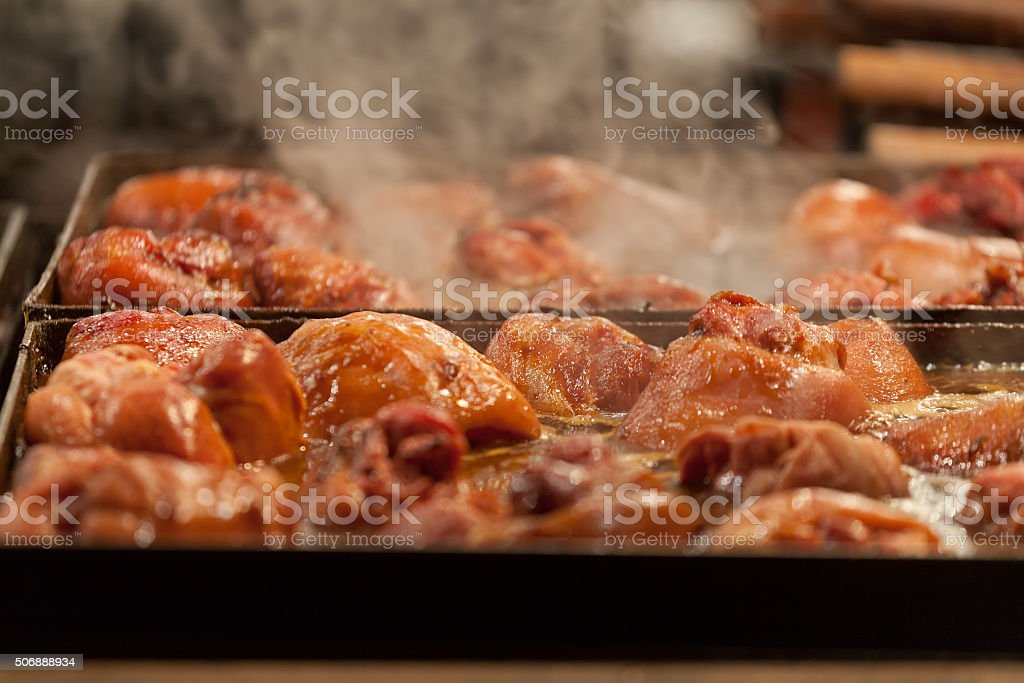 Appetizing slices of meat stock photo