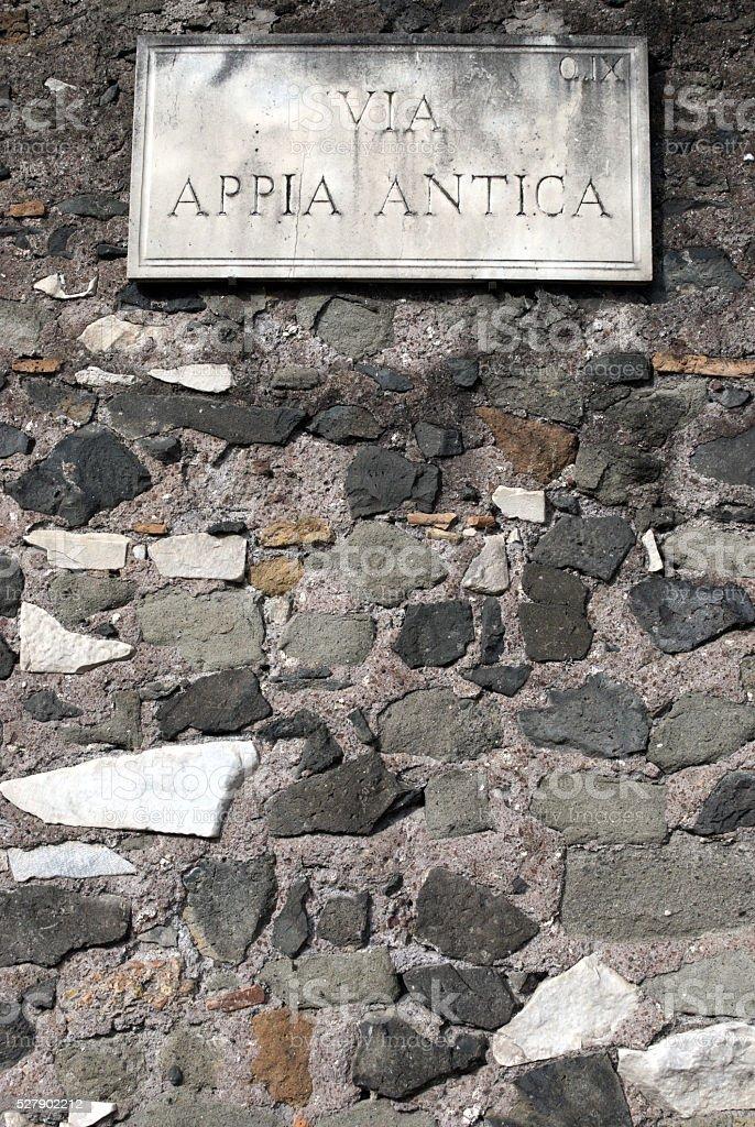 Appia Antica Regina Viarum stock photo