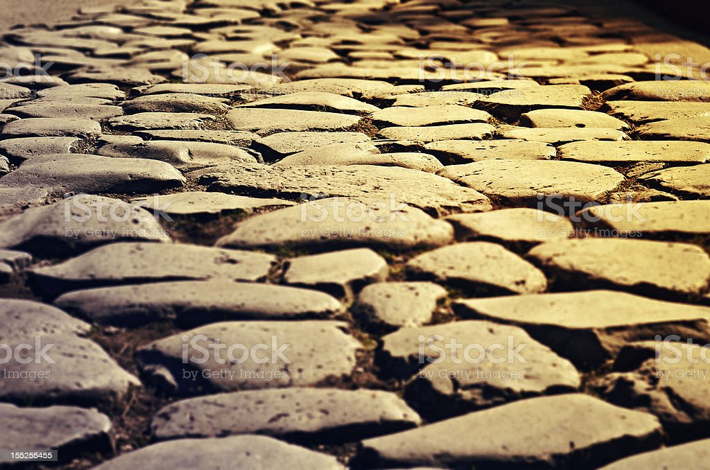 Appian way in Rome stock photo