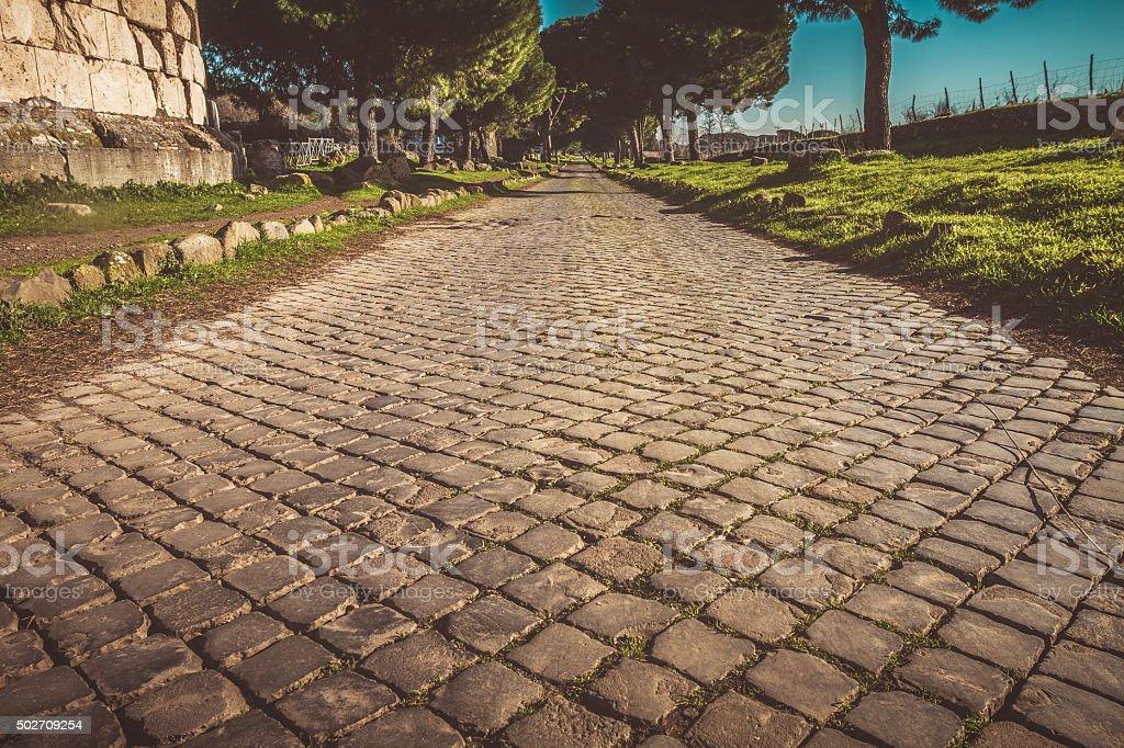 Appian way in Rome stock photo
