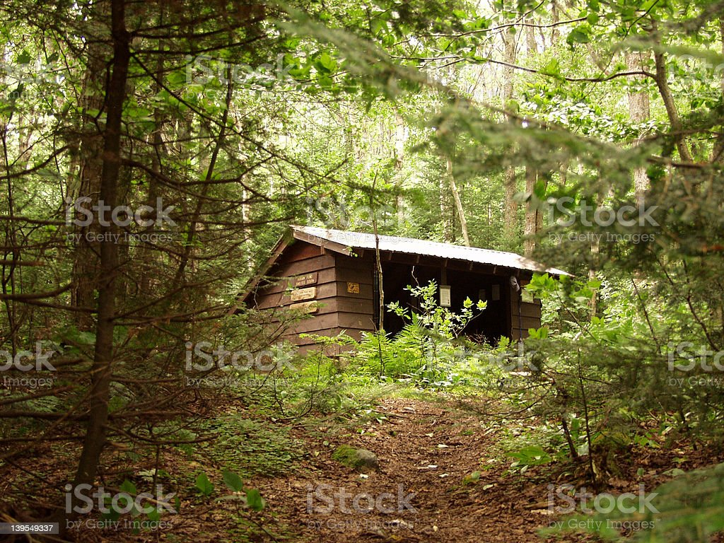 Appilachain Trail Shelter royalty-free stock photo