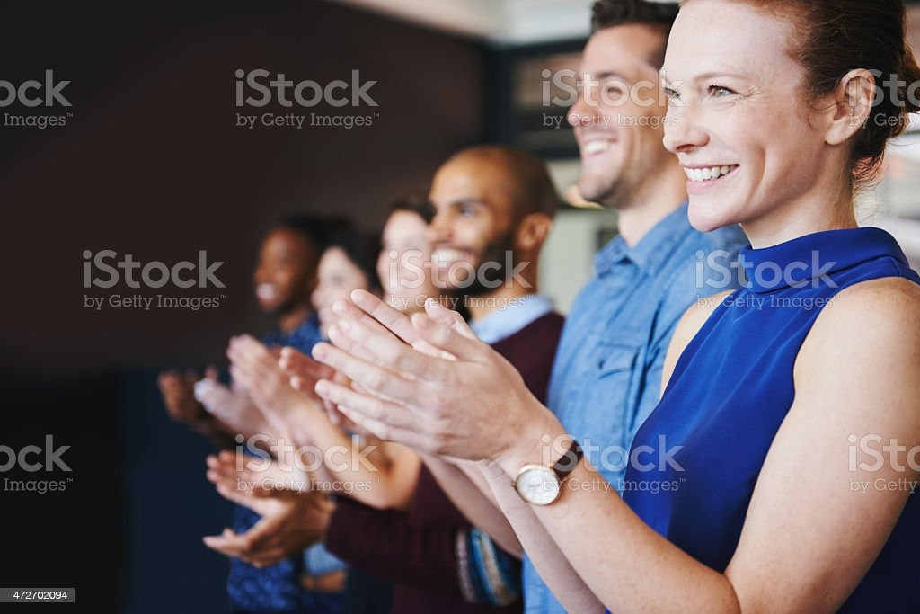 Applauding an achievement stock photo
