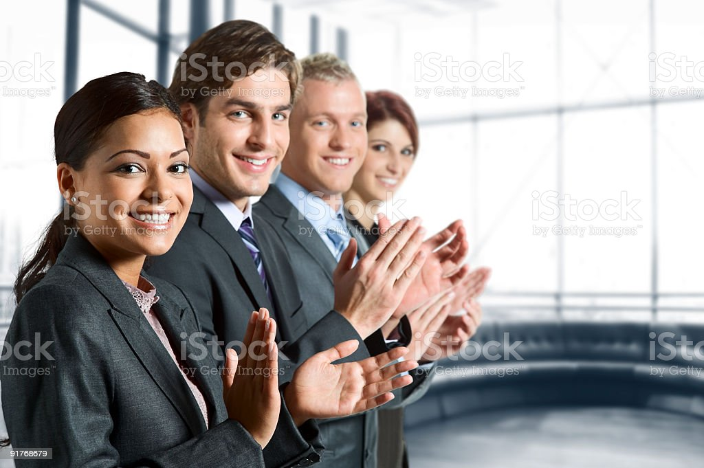 Applauding on a business meeting royalty-free stock photo