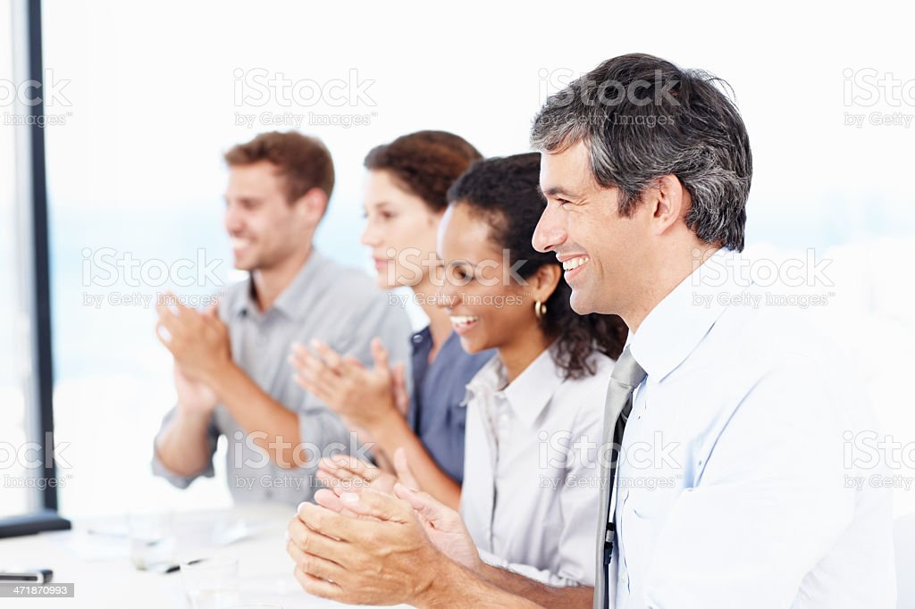 Applauding our success! royalty-free stock photo