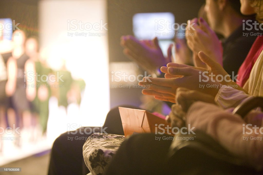 Applauding stock photo