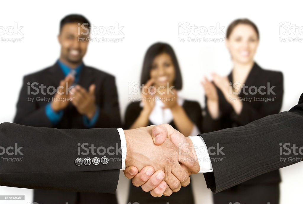 Applauding The Deal royalty-free stock photo