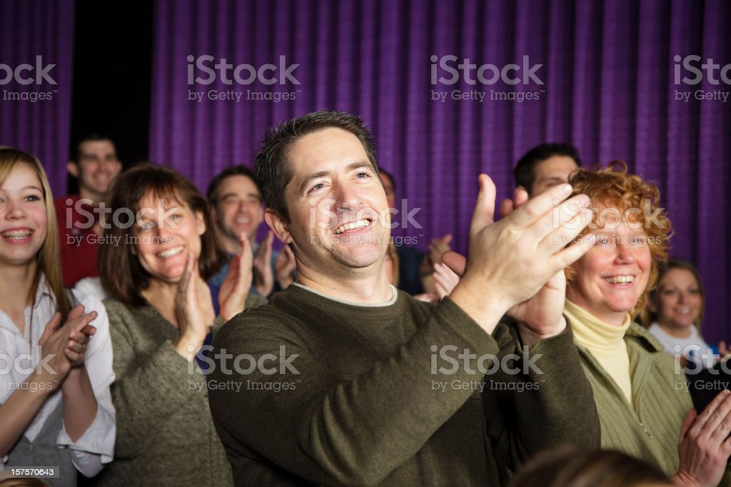 Applauding Theater Audience royalty-free stock photo