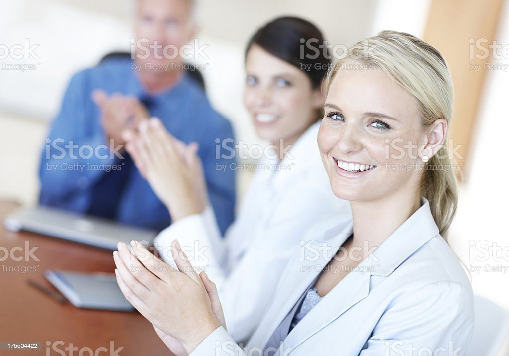 Applauding their hard work royalty-free stock photo