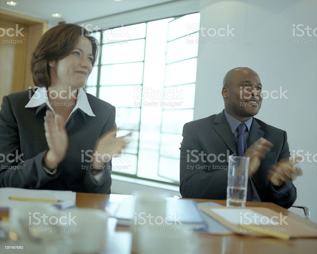 Applause in the Meeting royalty-free stock photo