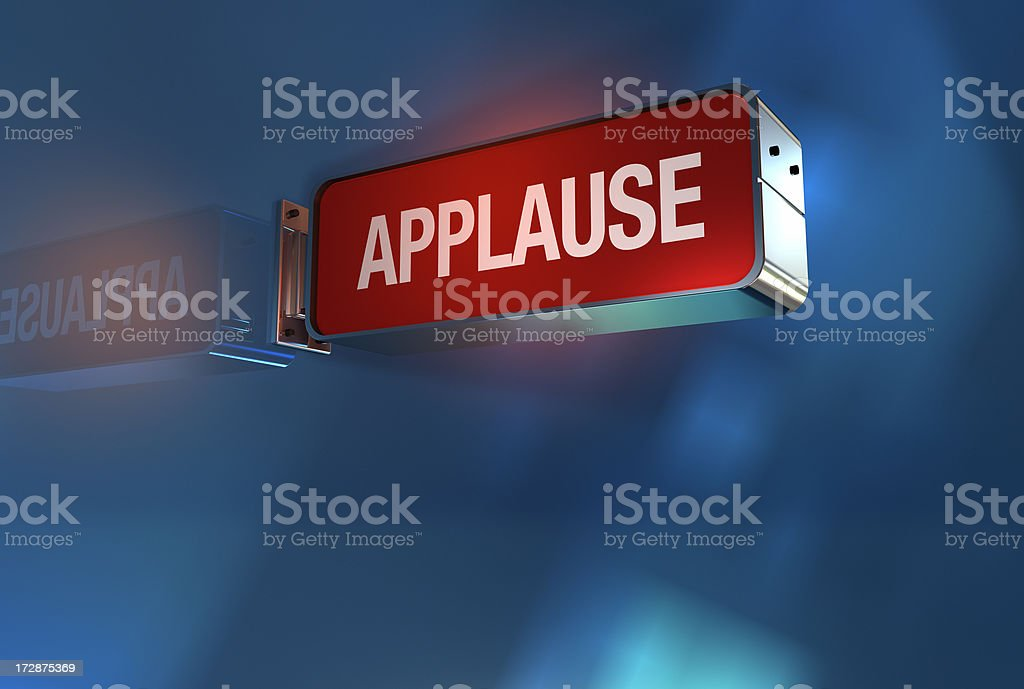 applause sign on royalty-free stock photo