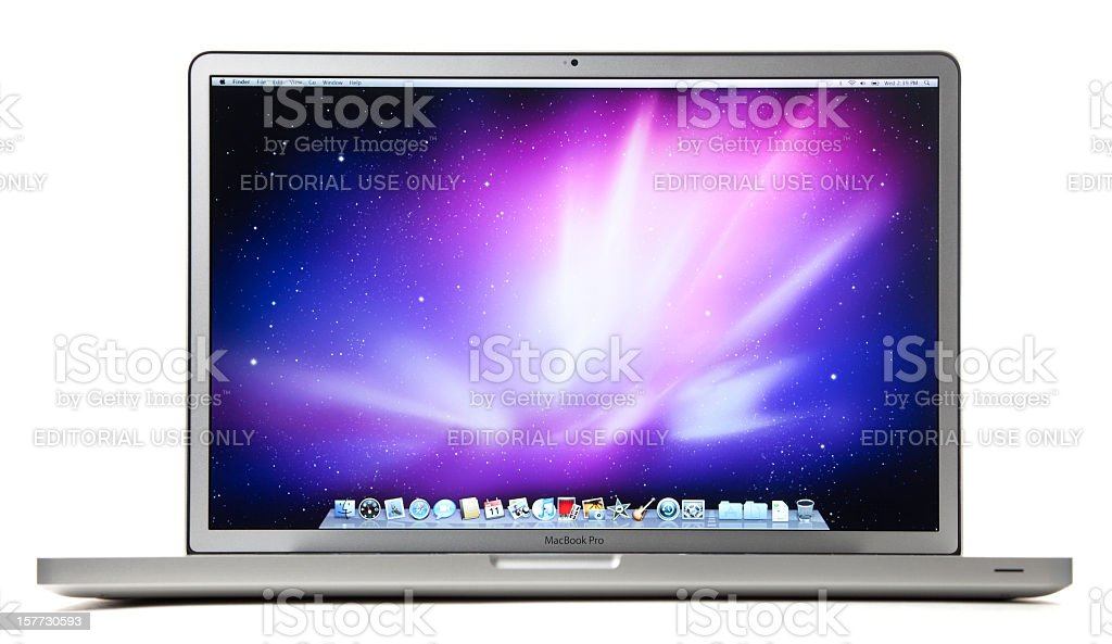Apple 17-inch MacBook Pro with Clipping Paths stock photo